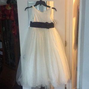 Dresses & Skirts - Bridesmaid dress. Worn once! White/dark purple